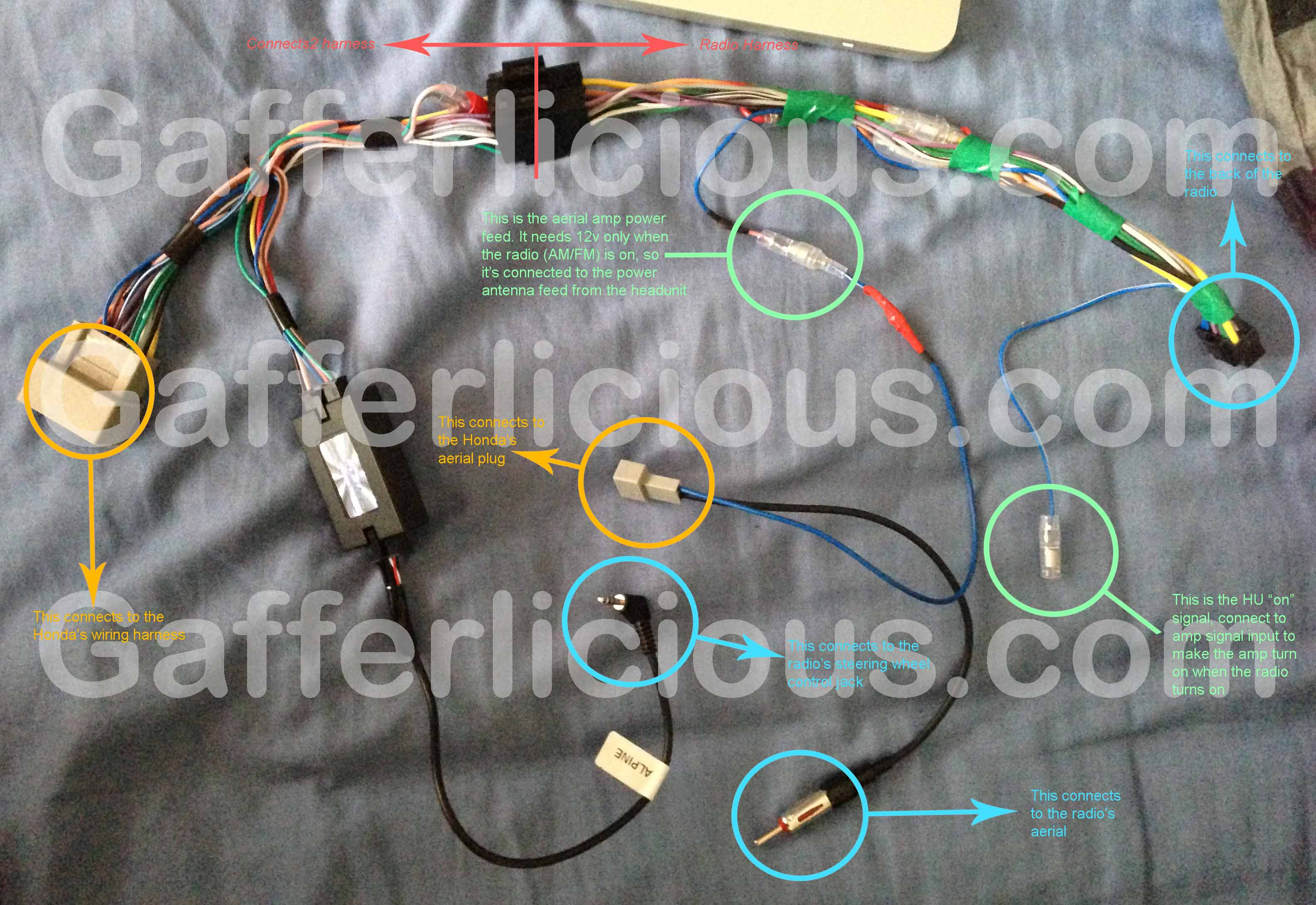 Gaffers Honda Jazz Ice Install Page Amp Wire Harness Cr V Audio Wiring